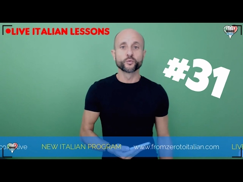 Practice and Improve Beginner and Basic Italian Pronunciation: Learn Italian Online LIVE (Lesson 31)
