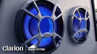 Clarion Marine Speakers and Subwoofer