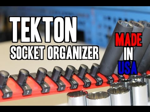 Tekton 1882 3 8 Quot Socket Organizer Made In Usa Youtube