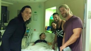 Stars of 'Thor' Surprise Little Boy Who Suffered Brain Injury By Saving Brother