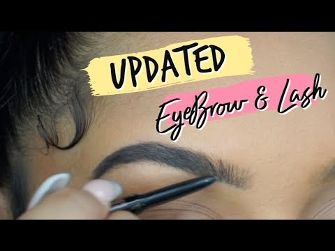 EASY & SIMPLE EYEBROW & LASH TUTORIAL | TheAnayal8ter thumbnail