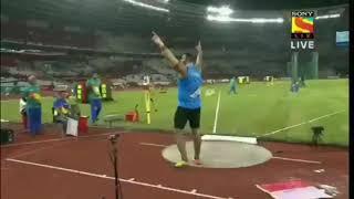 Tejinder Pal Singh Toor's fantastic Gold medal winning throw