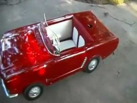 1966 mustang junior walk around of rare gas powered promo car youtube