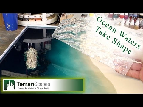TerranScapes - Ocean Board Set WIP #4 - Pouring the water