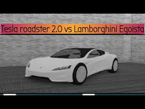 Roblox Vehicle Simulator Stock Egoista Vs Stock Tesla Roadster 2 0
