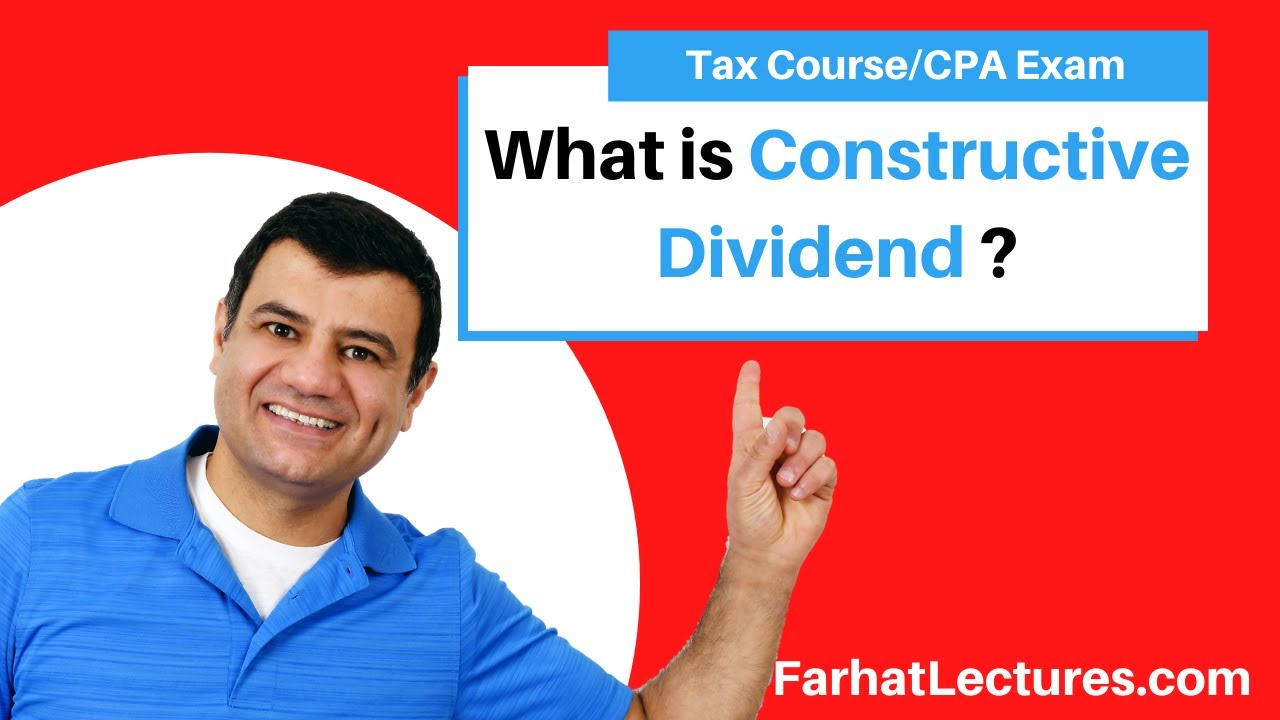 Download Constructive Dividend |Corporate Income Tax Course | CPA Exam Regulation default