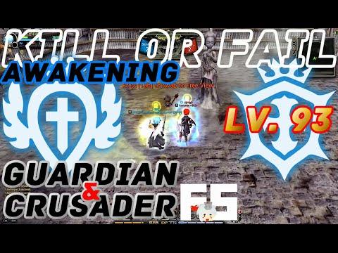 Dragon Nest PvP : Crusader V Guardian Raven Inquisitor Adept Awakening KDN KOF Lv. 93