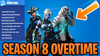 All Fortnite Season 8 Overtime Challenges Rewards Leaked - Ember Sidewinder & Master Key Edit Styles