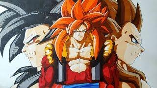 Cómo Dibujar A Goku Vegeta Y Gogeta Ssj4 Magicbocetos Tutorial Paso A Paso Youtube