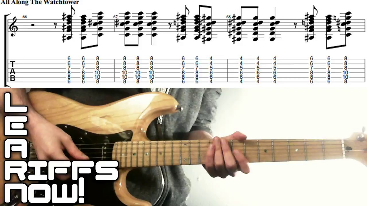All Along The Watchtower Intro Chords Jimi Hendrix Youtube
