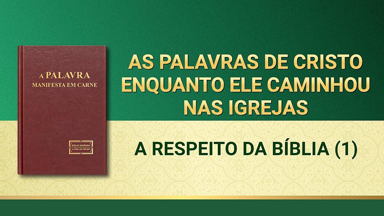 """Palavra de Deus """"A respeito da Bíblia (1)"""""""