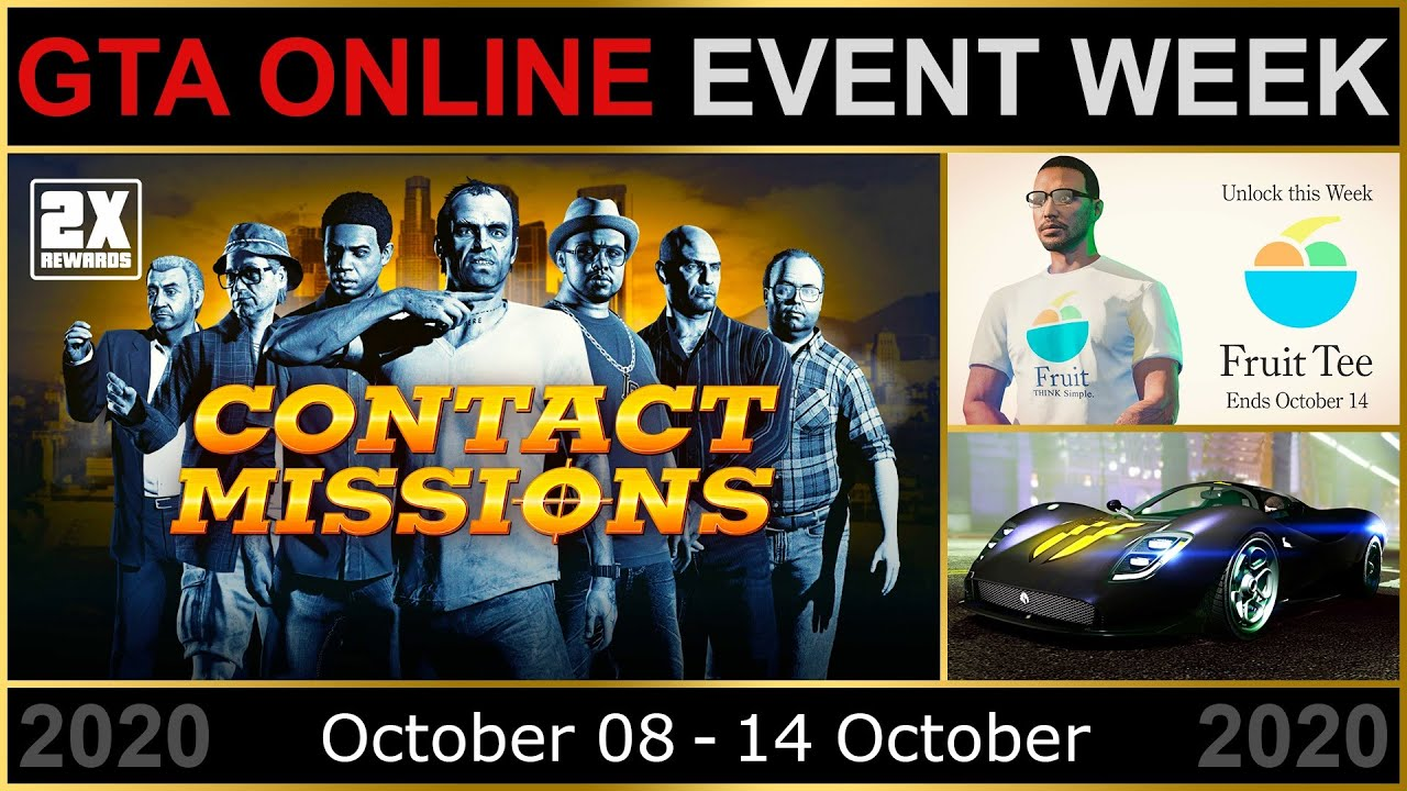 Gta Online Event Week 2x Gta Rp On Contact Missions 3x On Transform Races Ifruit Tee More Youtube