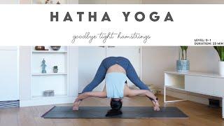 25-Min Beginners Hatha Yoga | Hamstring Legthening | Lydia Lim Yoga