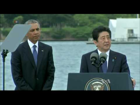 Pearl Harbor Victims Honored by Obama, Japan's PM Abe