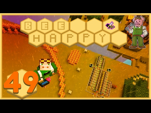 Minecraft: Bee Happy - #49  - Ultra Hive Foundations (FTB Modded Minecraft)