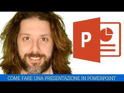 Come fare presentazione power point (saper parlare in pubblico powerpoint)