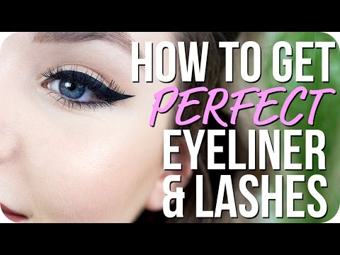 How to do Perfect Eyeliner and Apply False Lashes - Makeup Basics