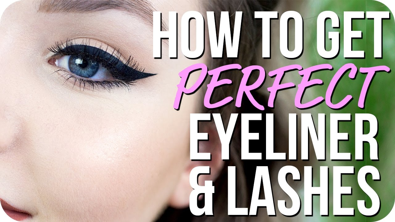 83bd859a130 How to do Perfect Eyeliner and Apply False Lashes - Makeup Basics ...