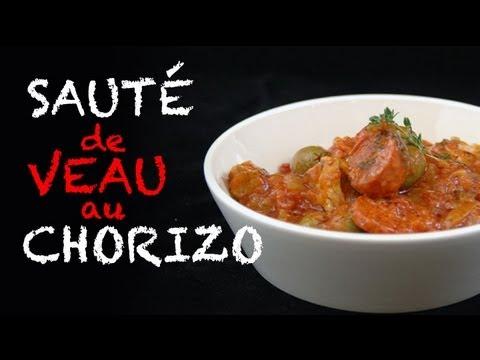 Recette facile : sauté de veau au chorizo