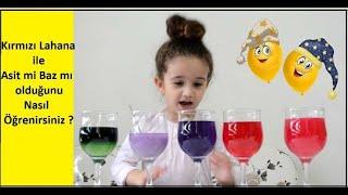 Sihirli Sıvılar Nasıl Renk Değiştiriyor?Kırmızı Lahana AsitBaz Deneyi-How Magic Liquids Change Color