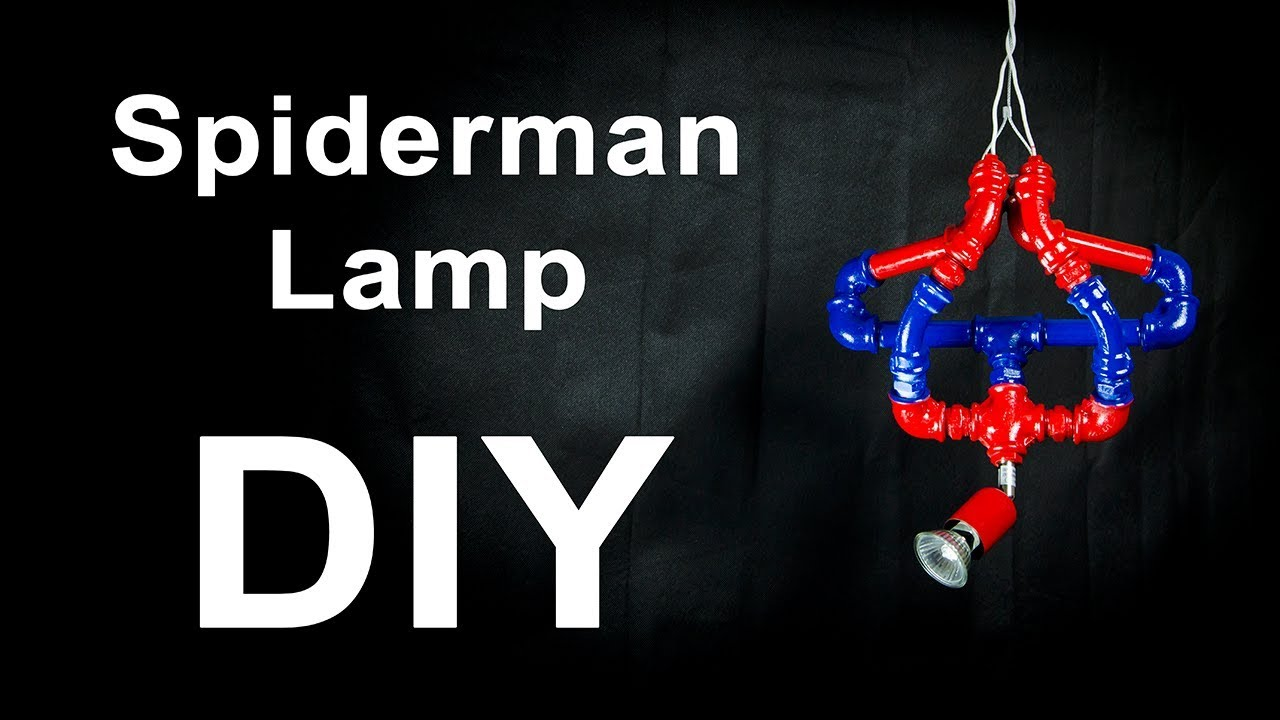Spiderman Lamp For Your Child DIY How To Make
