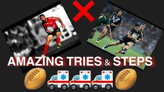 RUGBY SUPER REACTION | AMAZING TRIES AND STEPS