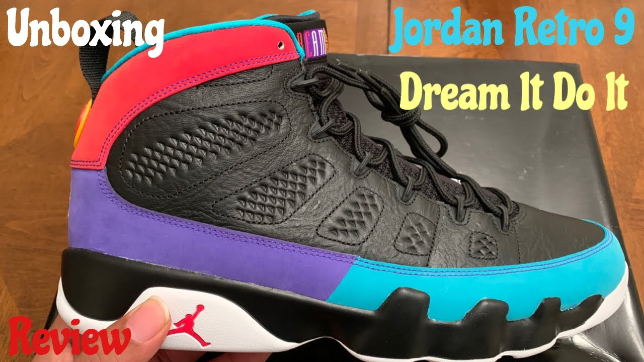 huge discount 33a7a 9225d Early Look Jordan Retro 9 Dream It Do It aka Martin Jordan 9 Unboxing    Detailed Review w McFly KOF.