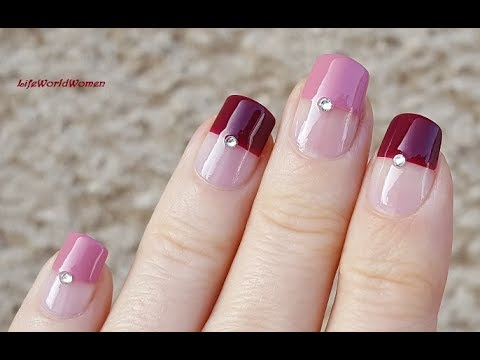 Elegant Mauve French Manicure Nail Art