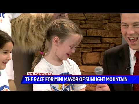 The race for the mini mayor of Sunlight Mountain Resort