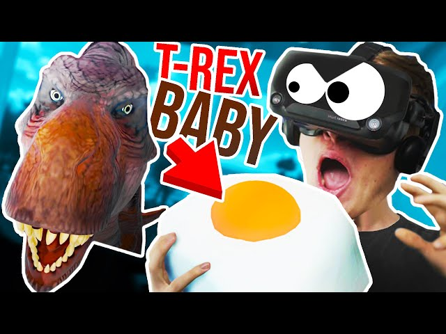 Eating a T-REX BABY to MAKE IT ANGRY!!?! - Suicide Guy VR