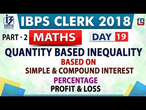 Quantity Based Inequality Part 2 Ibps Clerk 2018 Maths Day 19 200 Pm