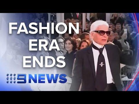 Fashion industry icon Karl Lagerfeld dies | Nine News Australia
