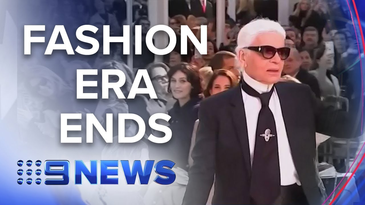 Fashion industry icon Karl Lagerfeld dies | Nine News Australia