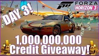 1 BILLION CREDIT GIVEAWAY DAY 3! Forza Horizon 3