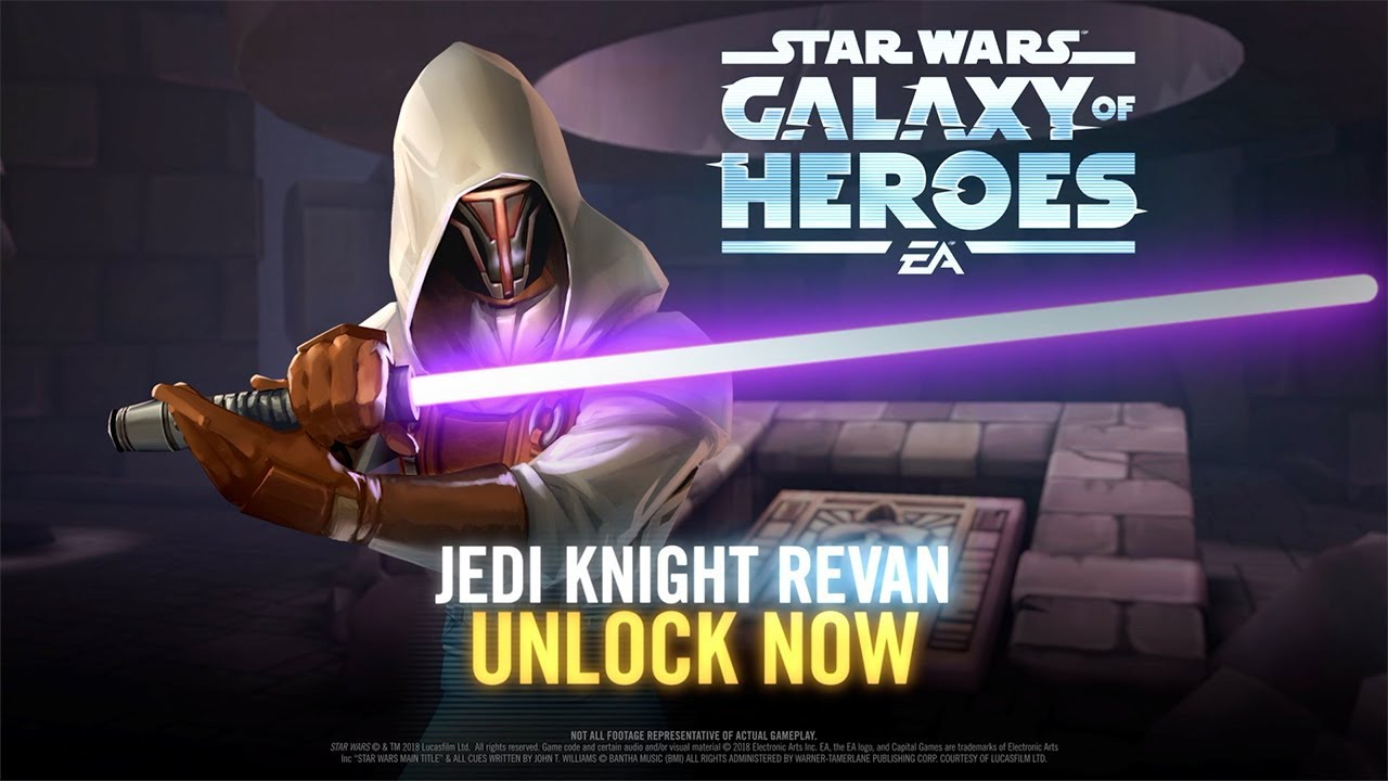 Jedi Knight Revan Is Available in Star Wars: Galaxy of Heroes for a