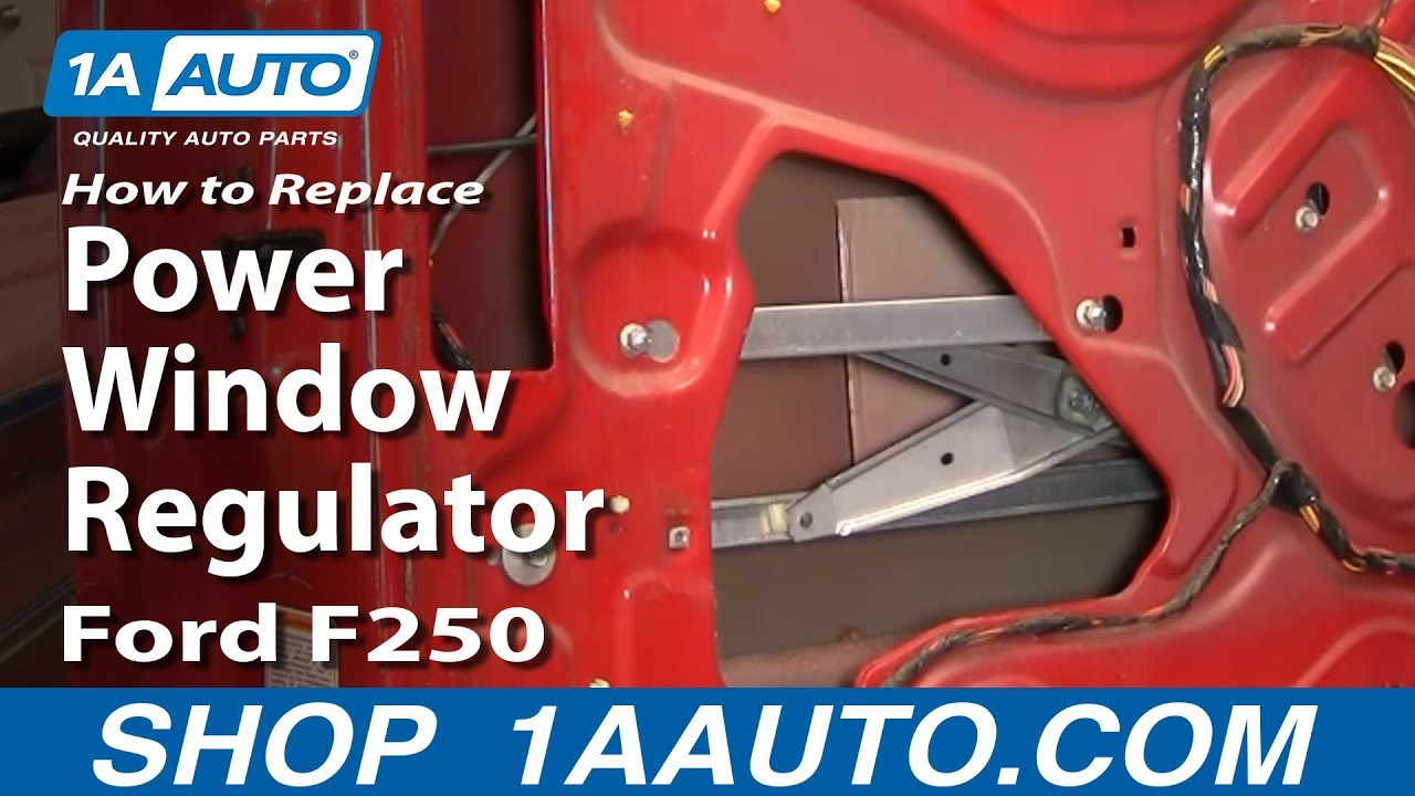 How to Replace Window Regulator 9912 Ford F250 Super Duty
