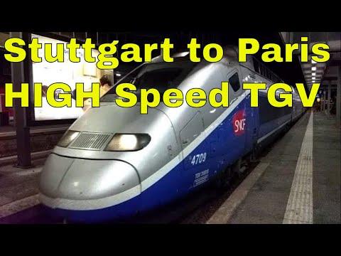 High Speed Duplex Bullet Train TGV SNCF From Stuttgart To Paris | World's Fastest Trains