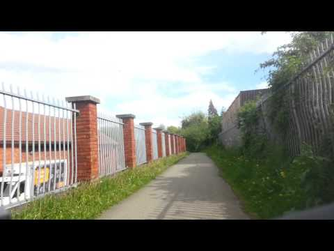 Liverpool Loop Line cycled from Walton HAll Avenue  to HaleWood Park (10 miles )
