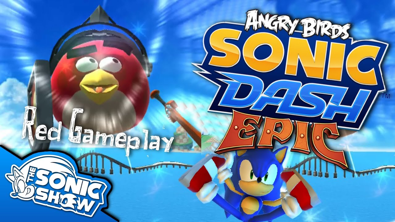 Angry Birds Sonic Dash: Epic - Red Gameplay - YouTube