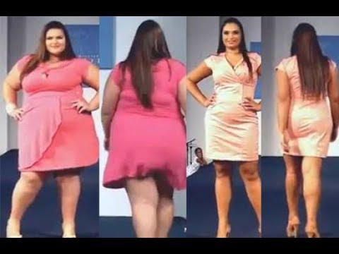 e59b549e5766 Fashion Big Size Dress Large Size Fashion Week 2017 - YouTube