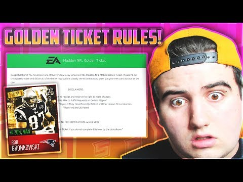 GOLDEN TICKET RULES! WE CAN ADD ANY BOOST!? + ANY ARTWORK! - TICKET INFO! Madden Mobile 18