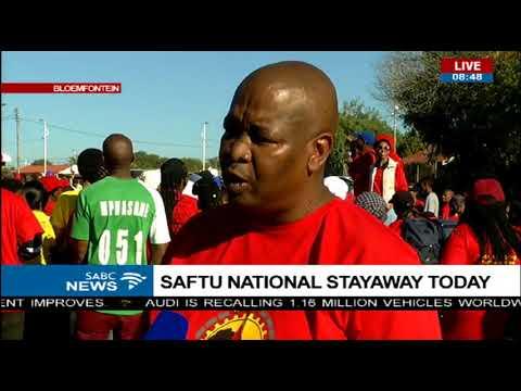 SAFTU National stayaway - Bloemfontein