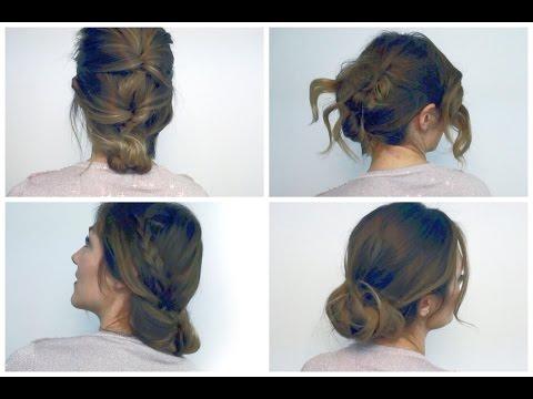 4 acconciature FACILI e VELOCI per capelli medio/lunghi 🌟