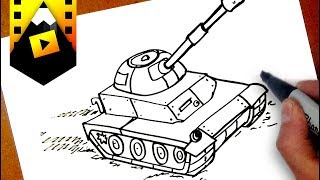como dibujar un tanque |  how to draw a tank