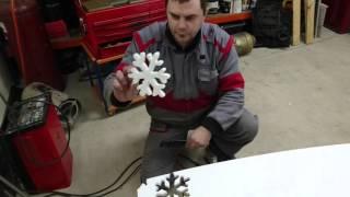 как сделать снежинку из пенопласта
