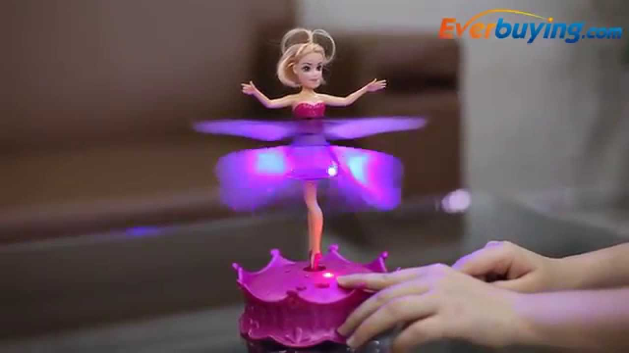 Magic Flying Doll With Light Sensing Flying Fairy Plastic Toy From