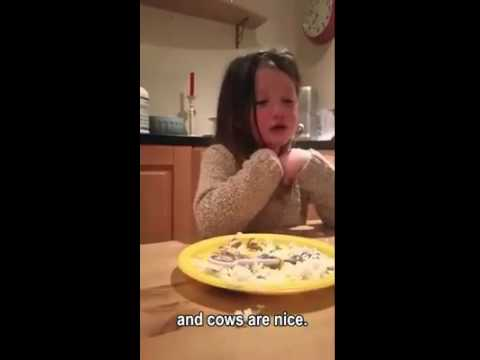 GO GREEN - LITTLE GIRL DON'T WANT TO EAT ANIMALS