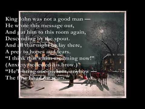 King John's Christmas [A. A. MILNE poem set to music]