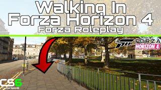 Walking In Forza Horizon 4 - Edinburgh Sunrise Stroll Roleplay
