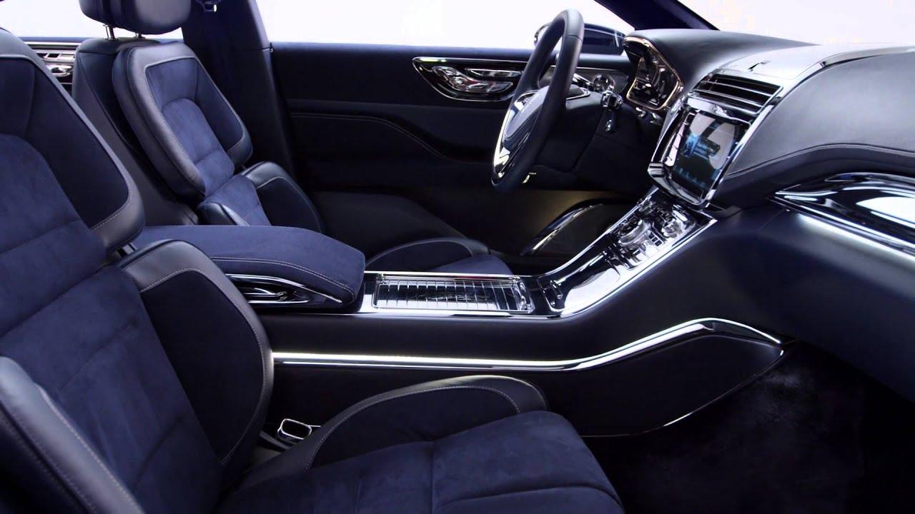 2015 Lincoln Continental Concept Interior B Roll Video Youtube